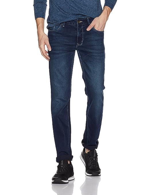 Diverse Men's Slim Fit Stretchable Jeans (DVD01D2L01-1e_Indigo Blue_34W x 33L) Men's Jeans at amazon