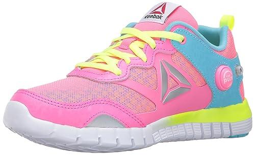 500940b56ec Reebok Zpump Instinct OC-K Track Shoe Poison Pink Crisp Blue Hero 1