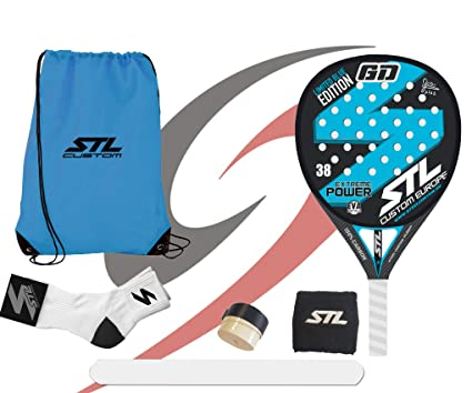 Pack de Padel Steel Custom GD Edición Limitada Eva Soft Plus Azul