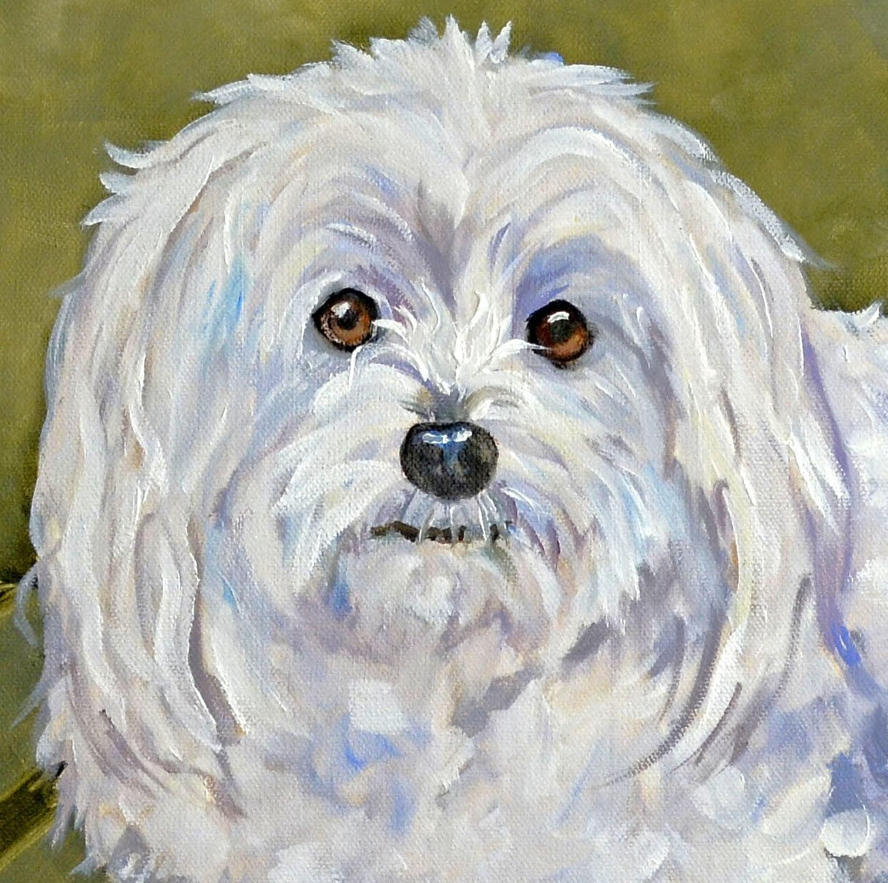 Custom Dog Portrait Oil Painting Painted by me, Artist Robin Zebley