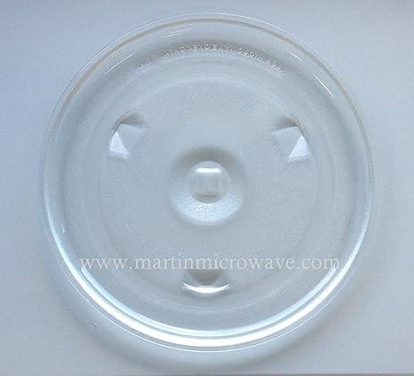 Microondas de cristal Tocadiscos placa (12 5/8