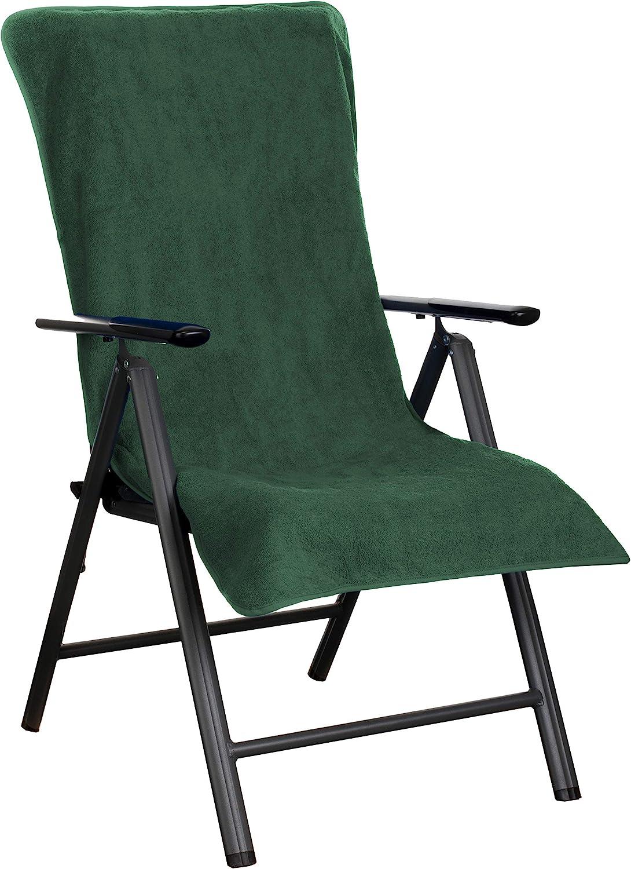 aus 100/% Baumwolle Dunkelgr/ün Brandsseller Frottee-Schonbezug f/ür Gart enstuhl und Gartenliege sowie als Strandliegenauflage