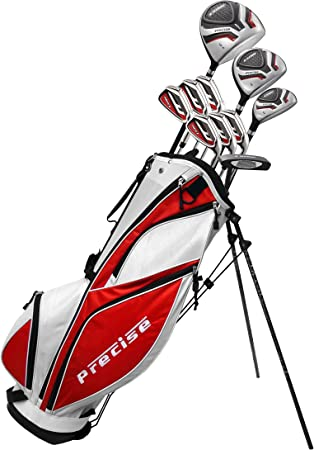 MDXII Men's Complete Golf Clubs Full Package Set Includes Titanium Driver, S.S. Fairway, S.S. Hybrid, S.S. 5-PW Irons, Putter, Bag, HC's best golf club set