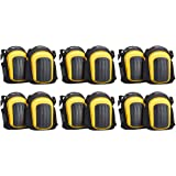 AmazonCommercial Superior Gel cushion Knee Pads, 9 in, Black, 6 pair