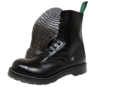 9d2da4763c4 Solovair NPS Men´s Hand Made in England 11 Eye Black Steel Toe Boots