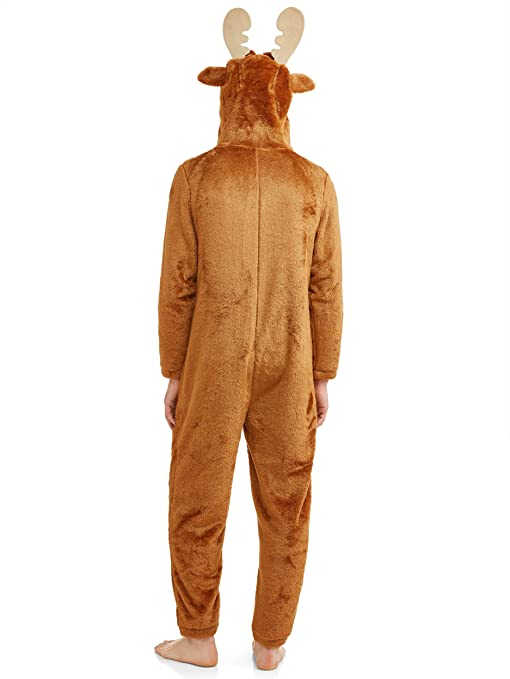 New Mens Large Donkey Union Suit 42-44 One Piece Pajamas Front Zipper