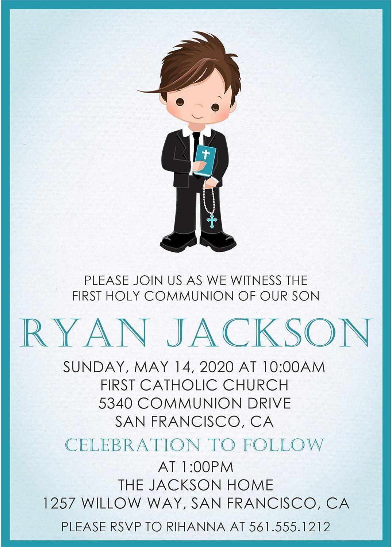 Amazon Com Boys First Holy Communion Invitations Boys First Holy