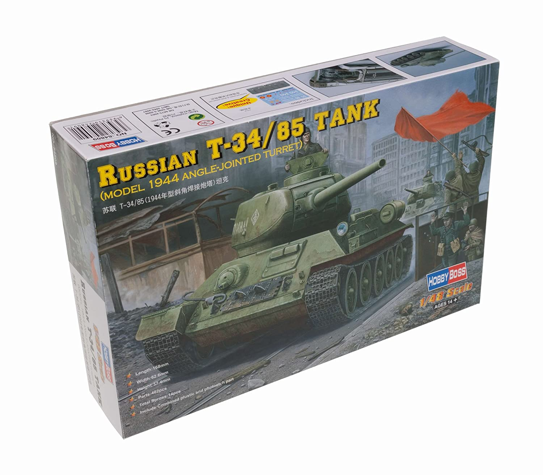 Model 1944 Flattened Turret Hobbyboss 1//48 84807 Russian T-34//85 Tank