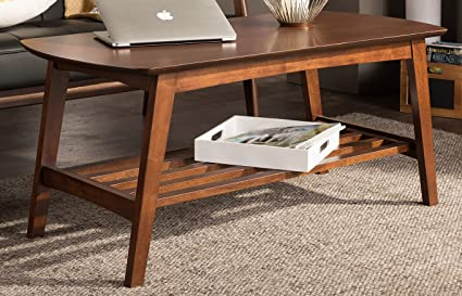 5cef03ad0bd1 Image Unavailable. Image not available for. Color  Baxton Studio Sacramento  Mid-Century Modern Scandinavian Style Coffee Table ...