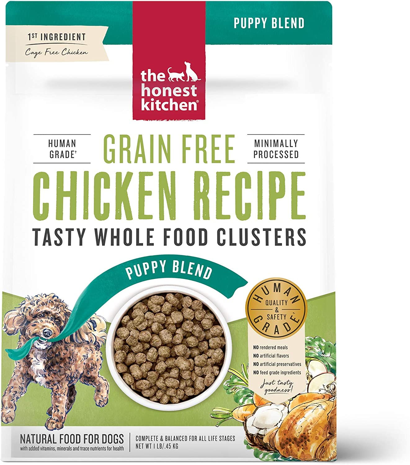 The Honest KitchenWhole Food Clusters Puppy Grain Free Chicken, 1 lb Bag