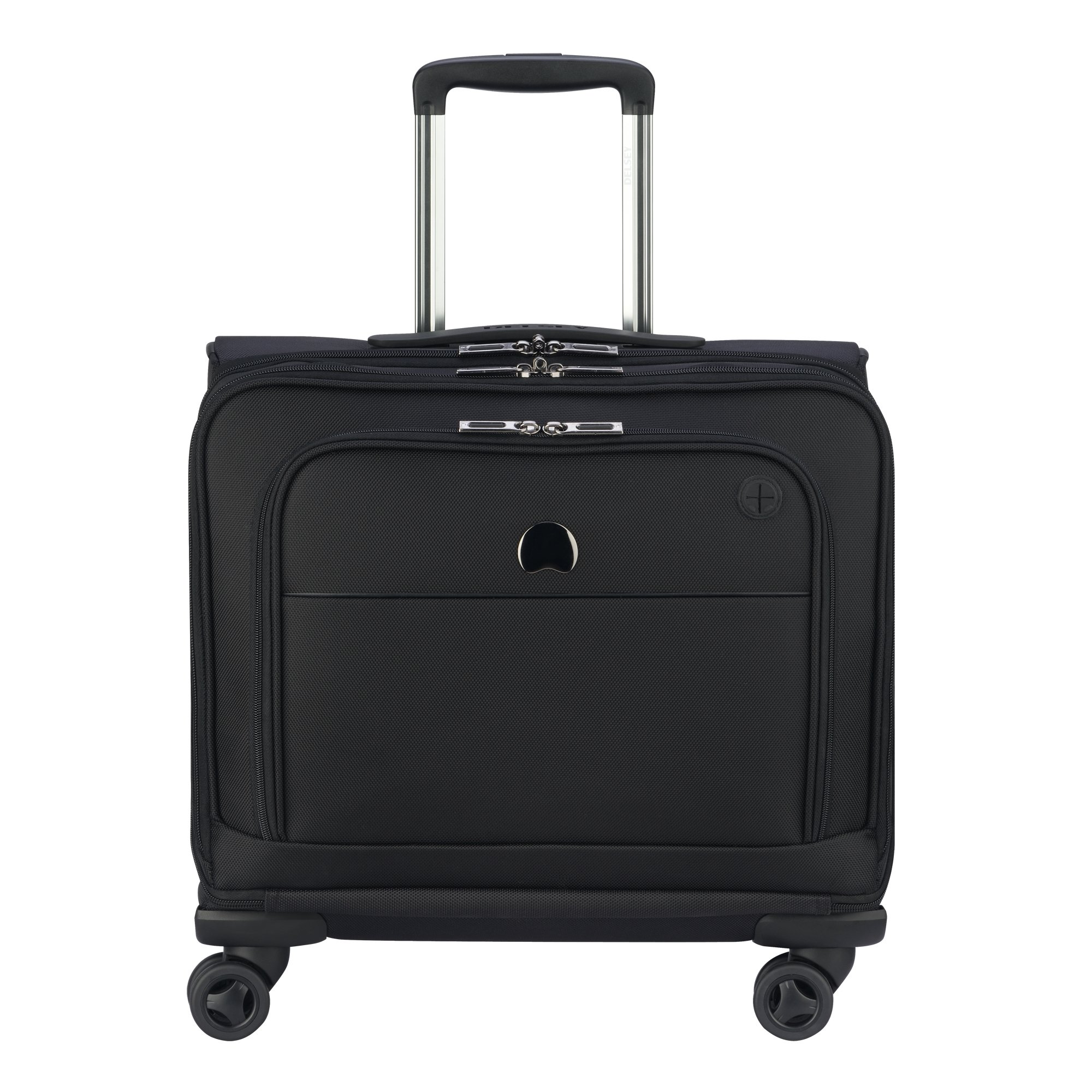 Delsey Luggage 4 Wheel Spinner Mobile Office-Exclusive Briefcase, Black, One Size