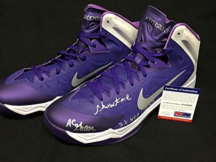 d7d0043f74f AC Green Signed Lakers Nike Basketball Shoes quot Showtime  3x NBA  Champ quot  - PSA