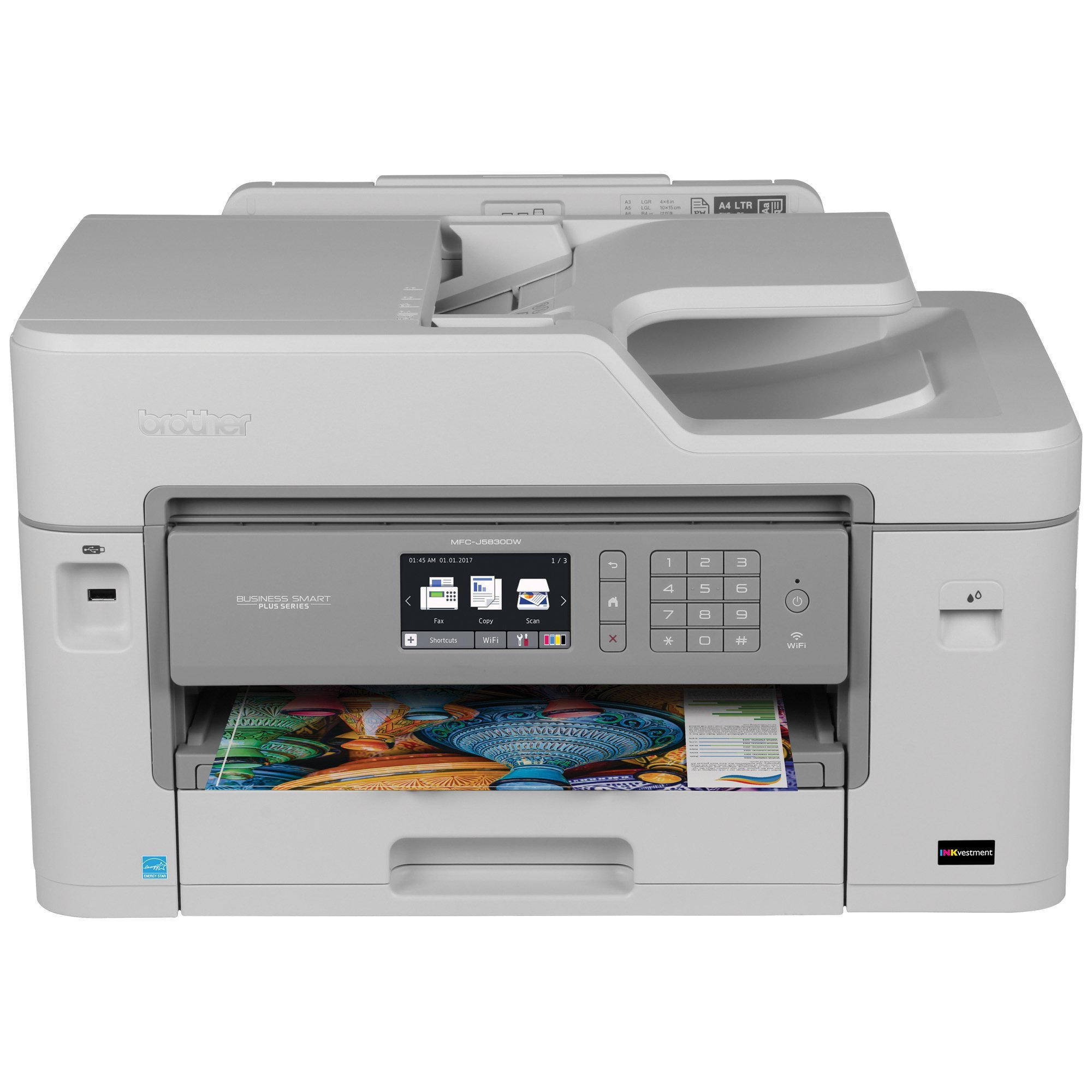 Brother Printer RMFCJ5830DW Refurbished Business Smart Plus with INKvestment Cartridges