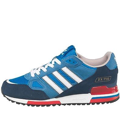 Herren Turnschuhe Adidas Leder Leichte Laufschuhe Blau