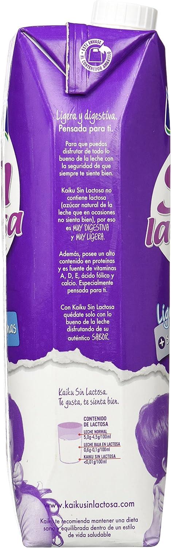 Kaiku Leche sin Lactosa Entera - Paquete de 6 x 1000 ml - Total 6000 ml: Amazon.es: Productos para mascotas