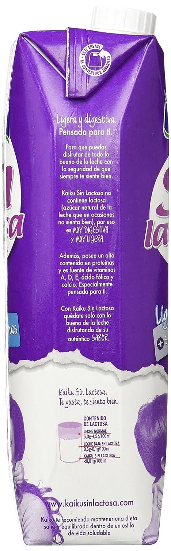 Kaiku Leche sin Lactosa Entera - Paquete de 6 x 1000 ml - Total 6000 ml: Amazon.es: Amazon Pantry