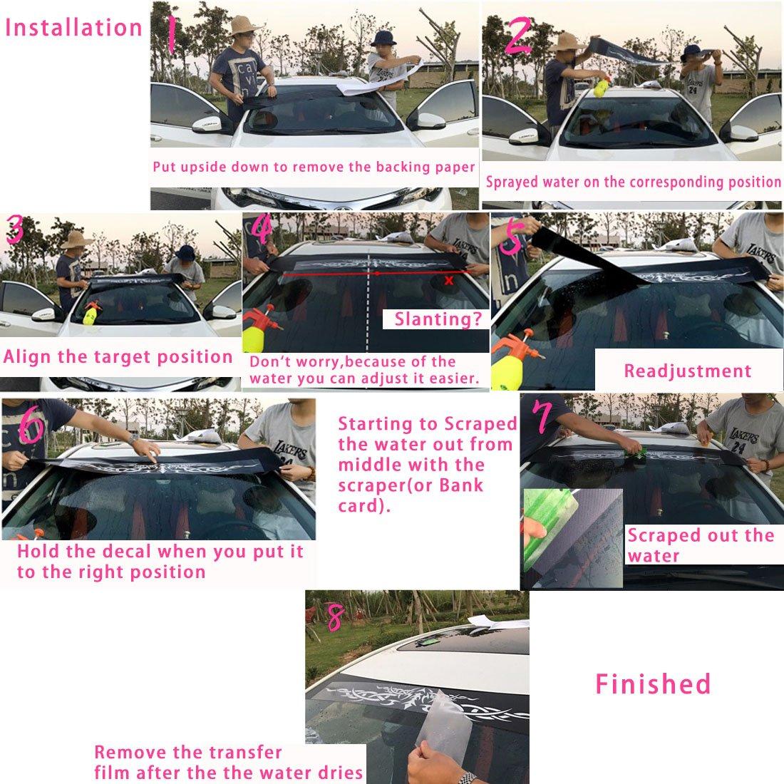 Kaizen White Windshield Sticker Banner Decal Vinyl Rally Window ART Graphic Decal Stripe Sticker For Honda Civic