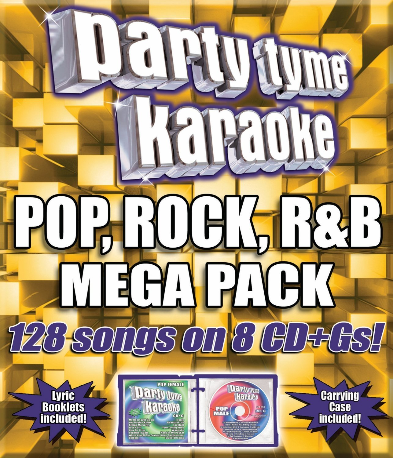 Party Tyme Karaoke - Pop, Rock, R&B Mega Pack (128-song Mega Pack) [8 CD] by SYBERSOUND