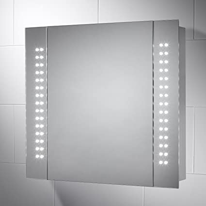 Remarkable Pebble Grey 650Mm X 600Mm Bathroom Mirror Cabinet Kinsley Led Wiring 101 Ivorowellnesstrialsorg