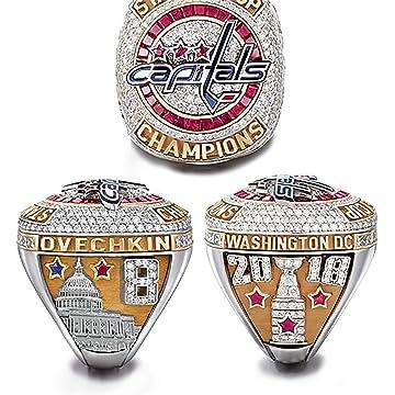 8b27547a2 HASTTHOU Replica Championship Ring 2018 capitales de Washington Campeonato  Mundial anillos Size 11 MVP Ovechkin Hockey