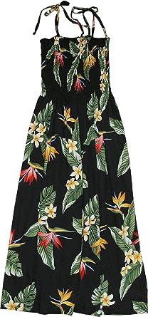 72f6e950b20 RJC Womens Bird of Paradise Display Elastic Tube Top Sundress in Black - S