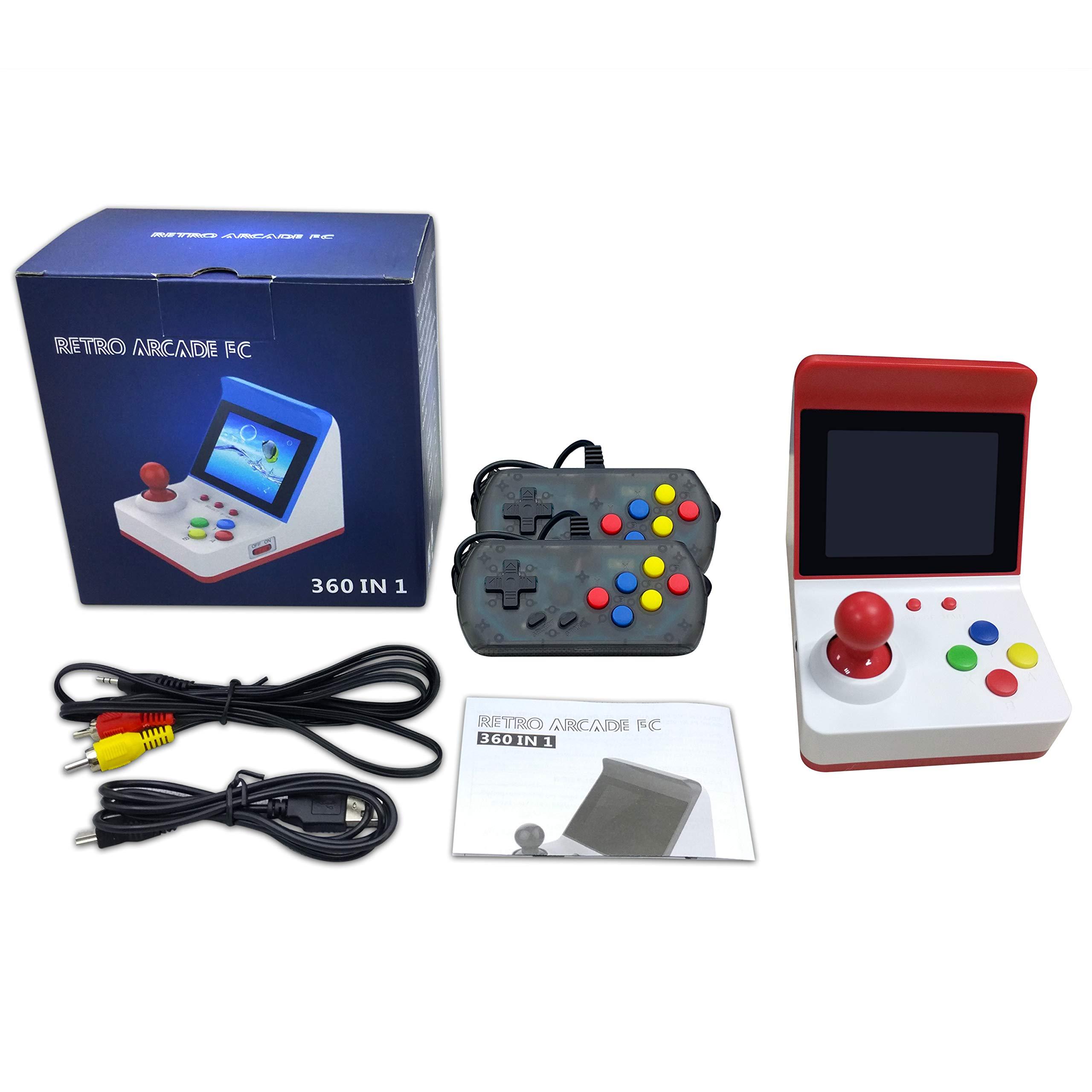 BAORUITENG Handheld Game Console, Retro FC Game Console Video Game Console with 3 Inch 360 Classic Games with 2 Joysticks , Birthday Present for Children (red) by BAORUITENG (Image #7)