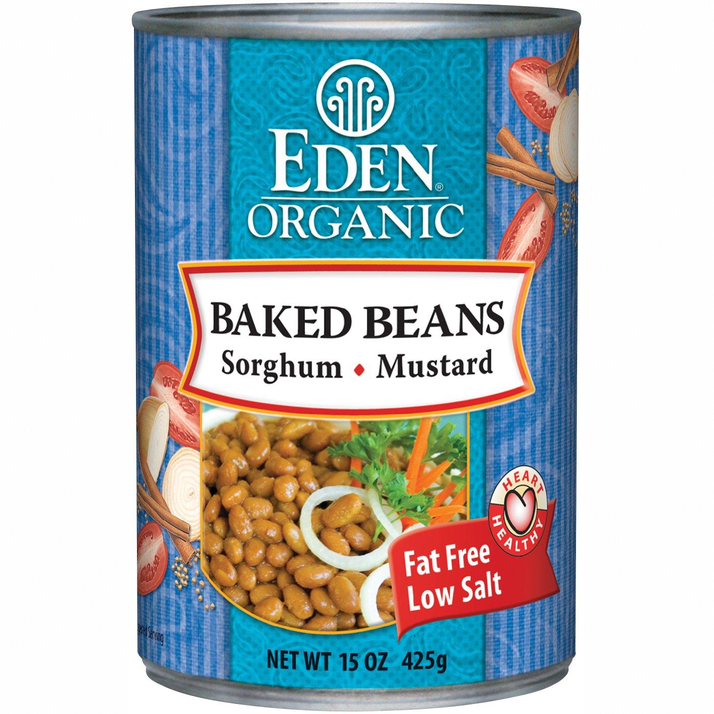 Eden Organic Baked Beans with Sorghum, Navy, 15 Ounce