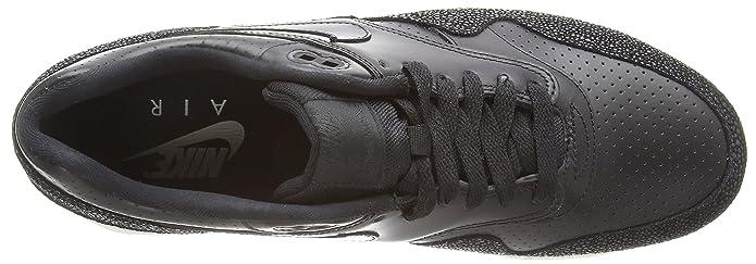 the best attitude 01846 c9a98 Amazon.com   Nike Air Max 1 Men Round Toe Leather Black Running Shoe    Running