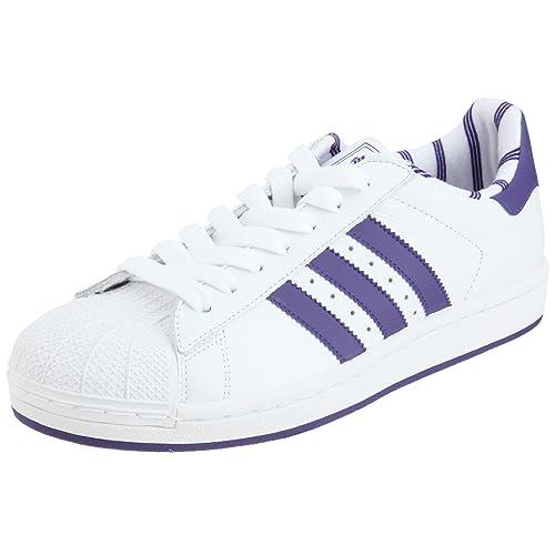 new arrivals best sell unique design Adidas Superstar II Schuhe Sneakers weiss-violett Leder