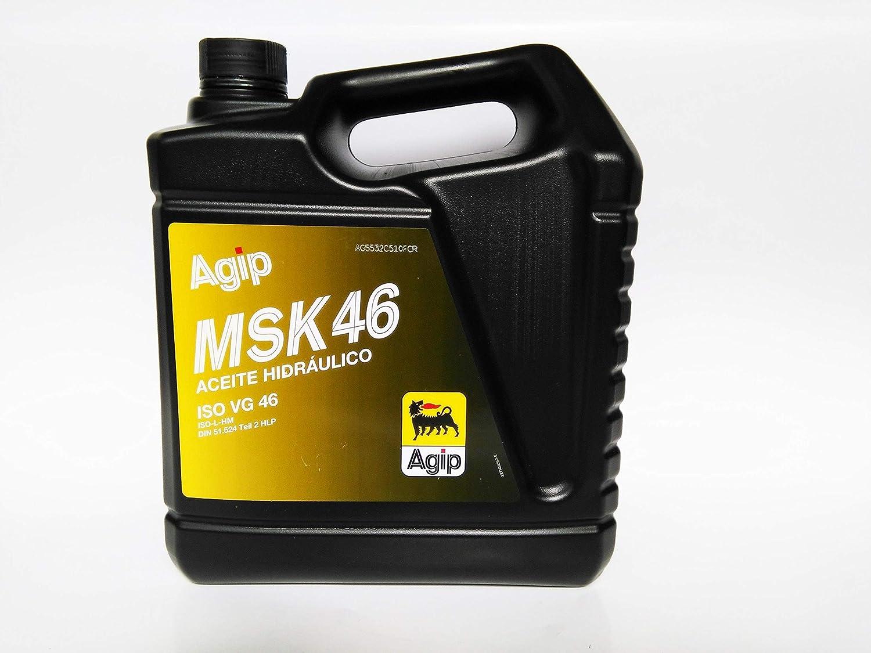ACEITE HIDRÁULICO AGIP MSK46 ISO VG 46 5L: Amazon.es: Coche y moto