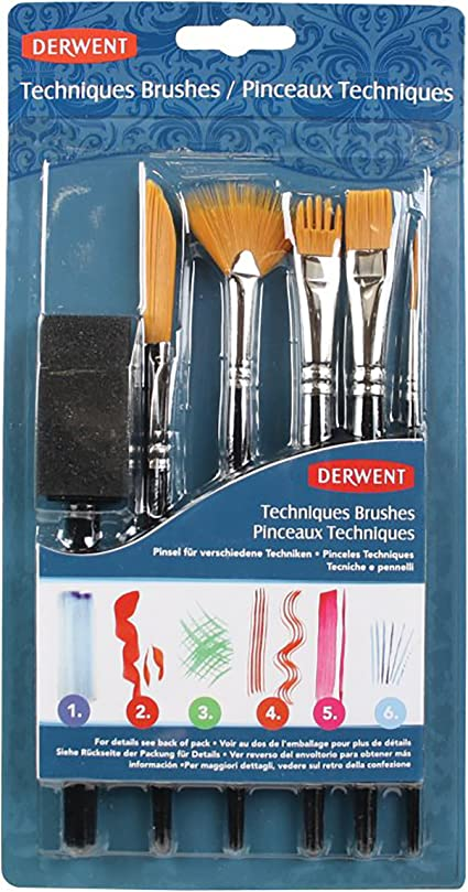 Derwent - Juego de pinceles (para diferentes técnicas de pintura): Amazon.es: Oficina y papelería