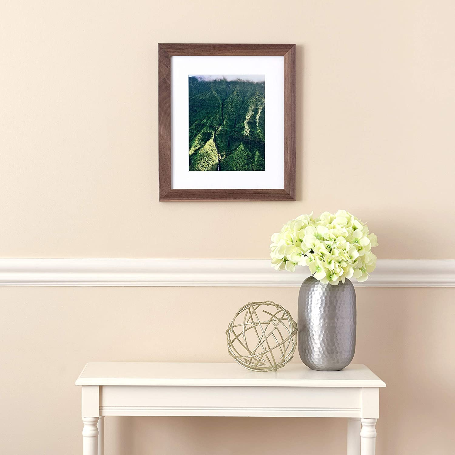 2WOM0066-81791-YWHT-18x25 ArtToFrames 18x25 inch Off White Stain on Beech Wood Picture Frame