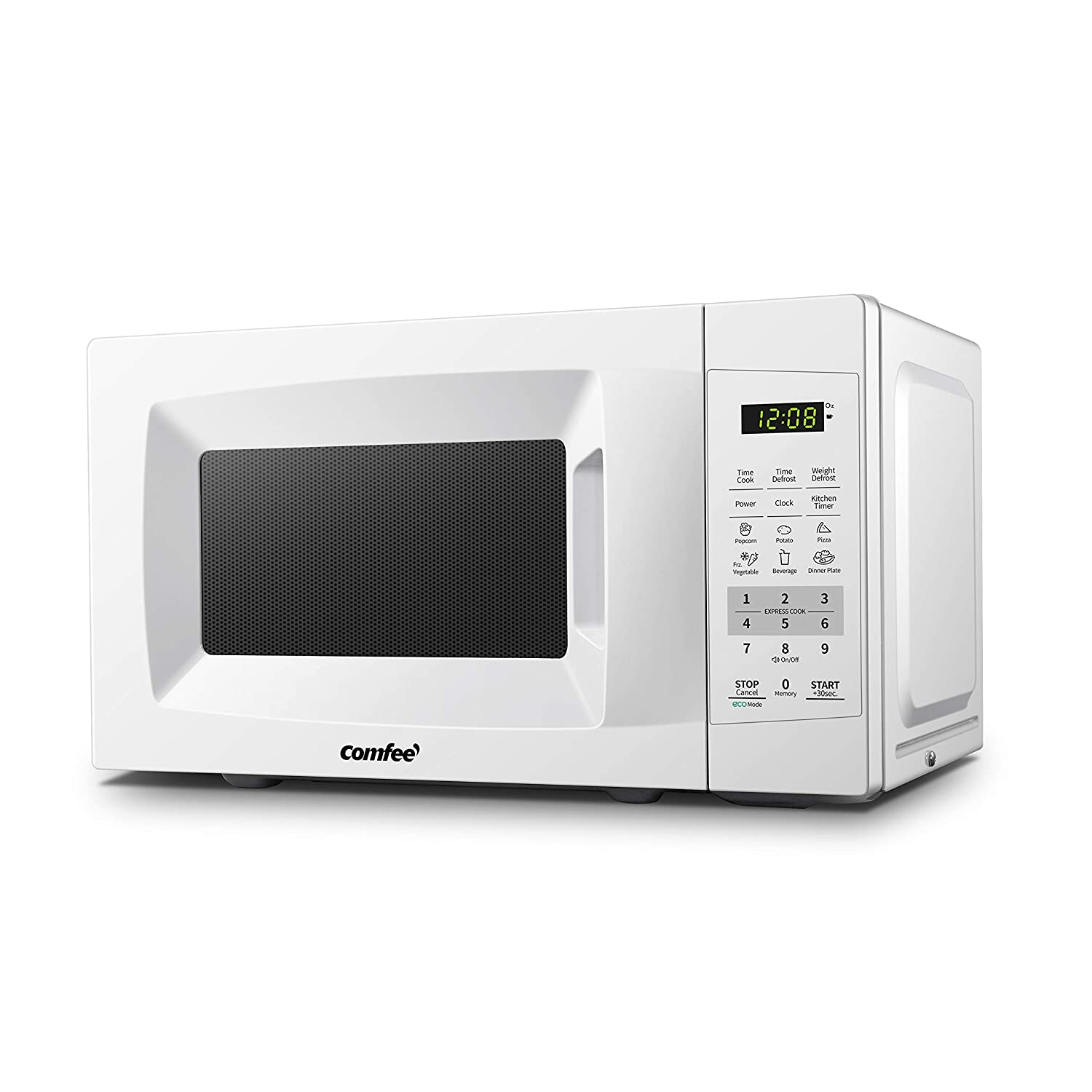 Comfee EM720CPL-PM Countertop Microwave Oven with Sound On/Off, ECO Mode and Easy One-Touch Buttons 0.7Cu.Ft/700W Pearl White