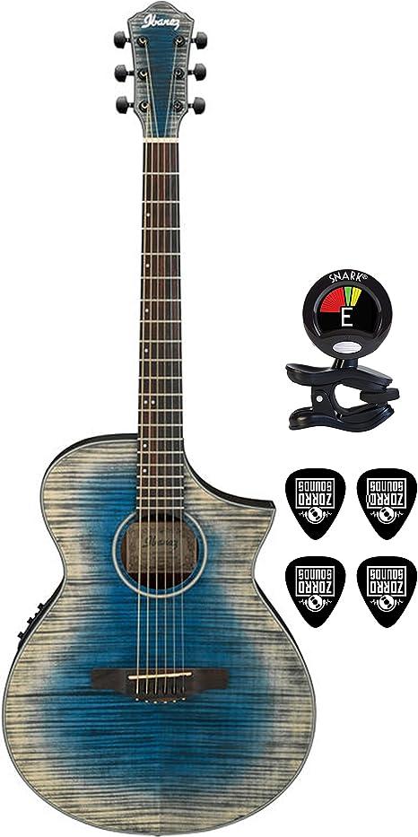 Ibanez aewc32fm Thinline acústica guitarra eléctrica paquete en ...