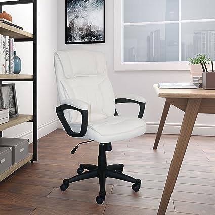 Serta CHR200114 Style Hannah Office Chair Microfiber, Comfort Ivory