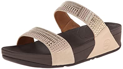 Fitflop Women's Aztek Chada Slide Dress Sandal, Rose Gold, ...