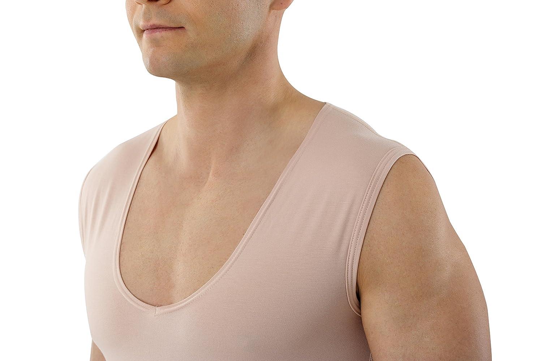 Albert Kreuz Unterhemd unsichtbar Lasercut Deep-V Kurzarm Businessunterhemd ohne