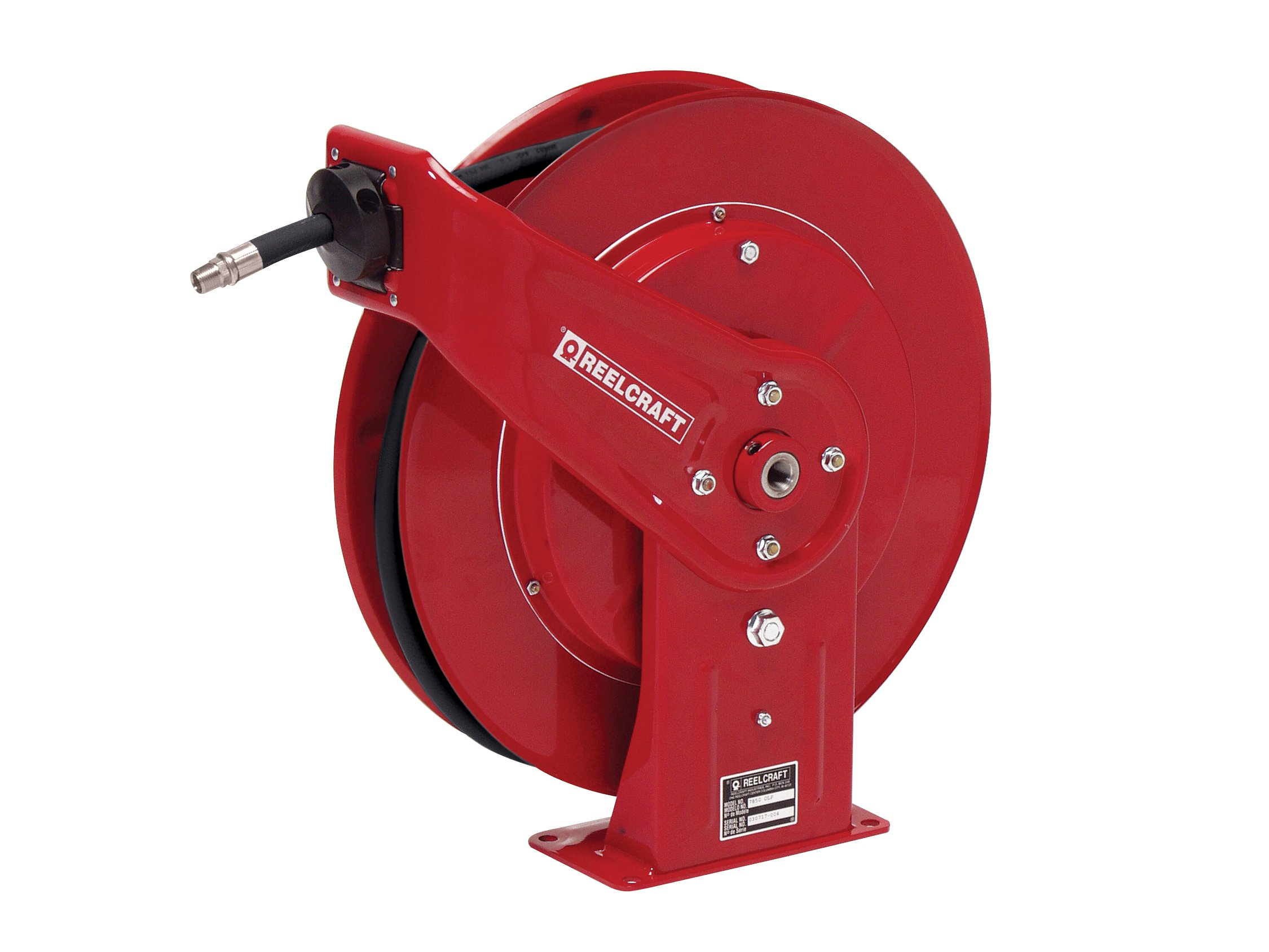 Reelcraft 7650 OHP 3/8-Inch by 50-Feet Spring Driven Hose Reel for Grease by Reelcraft (Image #1)