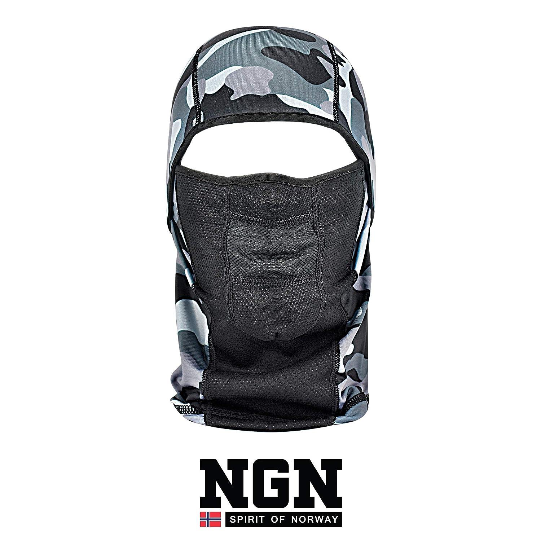 NGN Pasamontañas negro para hombre y mujer – Pasamontañas negro para esquí, snowboard, moto y bicicleta – Máscara de tormenta negra – Máscara de es