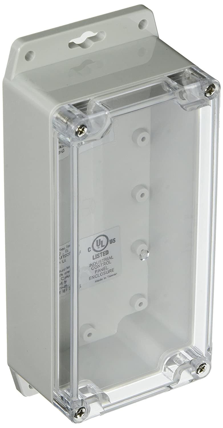 BUD Industries PN-1337-CMB Nema 4X Polycarbonate Box with Mounting Brackets Clear Lid