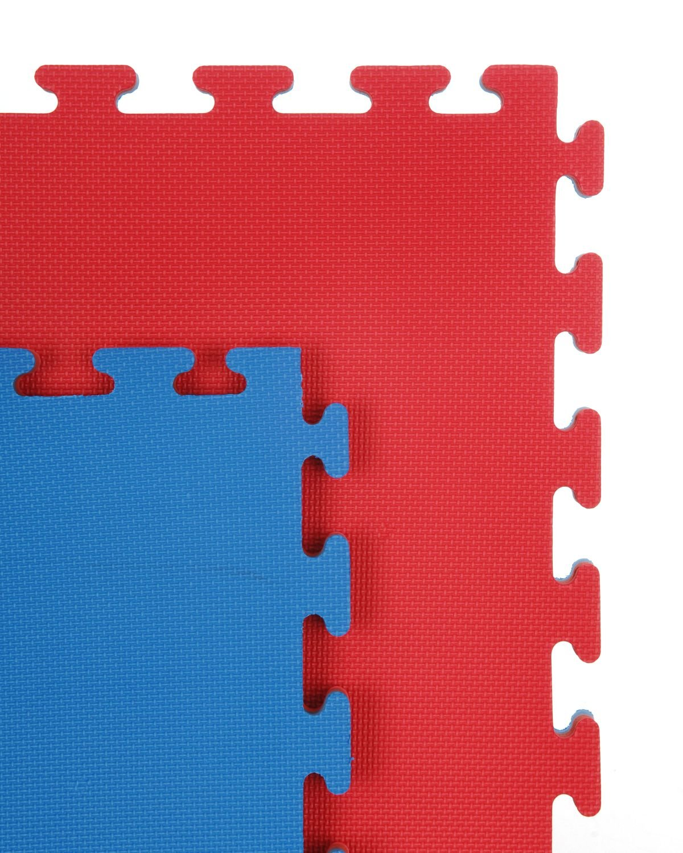 1 m x 40 mm Cannons UK Unisexs 12 Gym Martial Arts Karate Judo Interlocking EVA Mats-Red//Blue