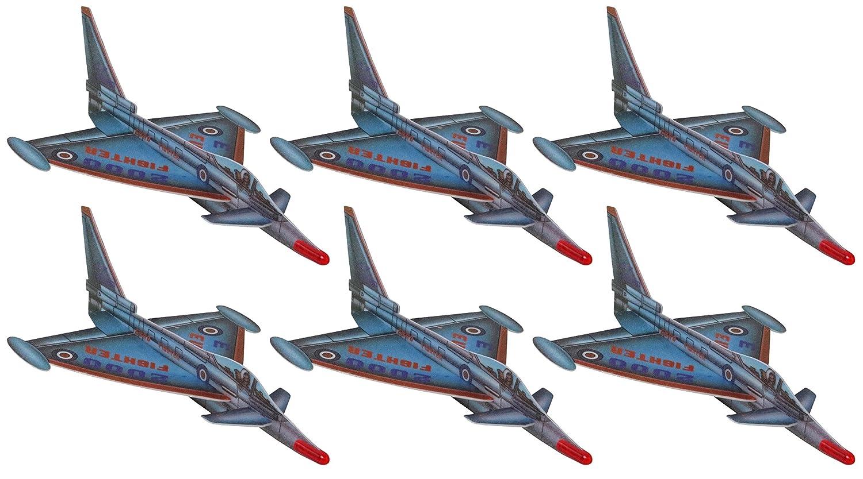 EF2000 13-Inch Eurofighter Large Foam Jet Fighter Glider - 18-Pack Flight Pack