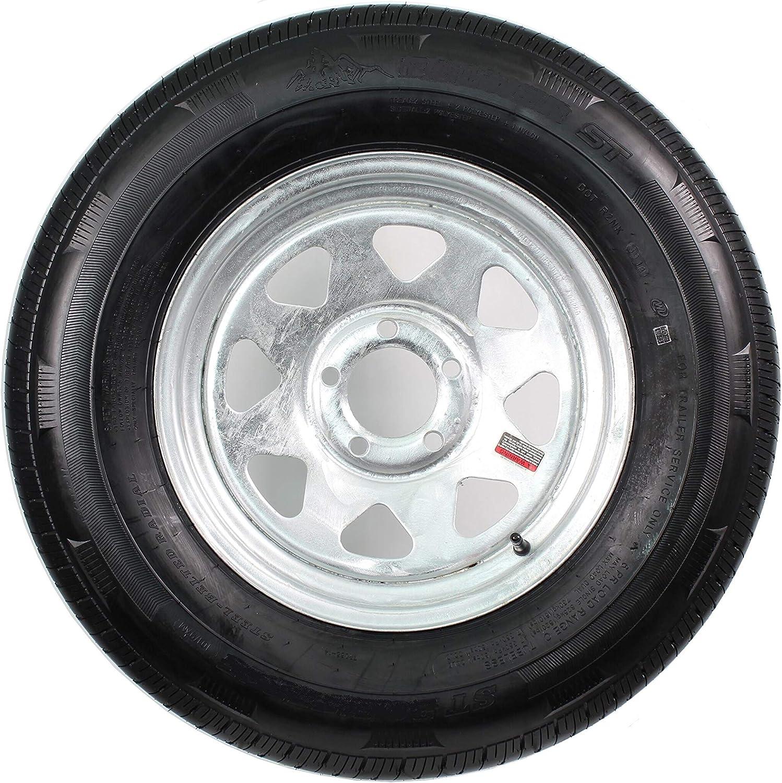 eCustomRim 2-Pack Trailer Tire On White Spoke Rim ST215//75D14 C 5 Lug On 4.5 14 x 6