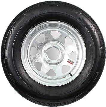 Load C 5 Lug Galvanized Spoke 2-Pack Trailer Tire On Rim ST205//75D14 14 in
