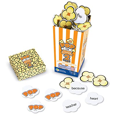 Learning Resources Pop for Sight Words 2 Game, Homeschool, Early Vocabulary/Phonics Classroom Game, 100 Pieces, 2-4 Players, Ages 5+: Toys & Games