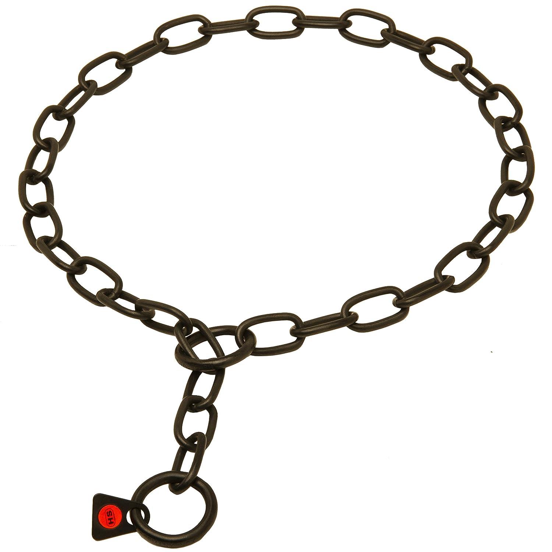 Herm Sprenger en acier inoxydable Noir belge malinois économiseur de fourrure Collier–1/22, 9cm (3mm) Link de diamètre–Taille 48, 3cm (50cm) pour chiens avec col Taille de 16–43, 2cm (40–43cm) 2cm (40-43cm)