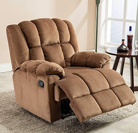 Amazon.com: Large and Overstuffed Recliner Chair Antiskid ...