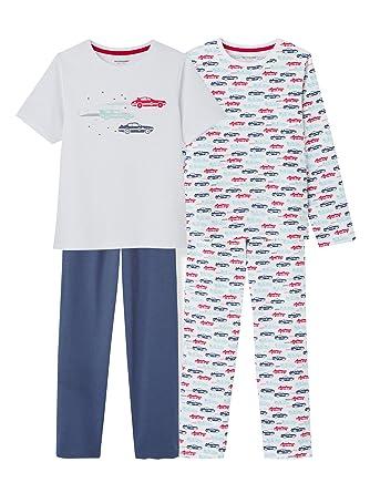 VERTBAUDET Lote de 2 pijamas combinables niño Blanco Claro Bicolor/Multicolor 8A: Amazon.es: Ropa y accesorios