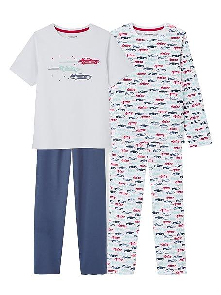 VERTBAUDET Lote de 2 pijamas combinables niño Blanco Claro Bicolor/Multicolor 8A