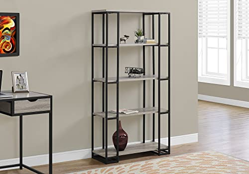Cheap Monarch Specialties I Bookcase-60 H Black Metal modern bookcase for sale